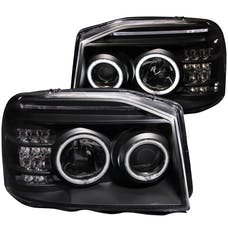 AnzoUSA 111172 Projector Headlights with Halo Black (SMD LED)