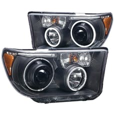 AnzoUSA 111174 Projector Headlights with Halo Black (SMD LED)