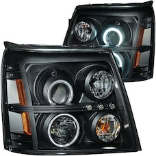 AnzoUSA 111175 Projector Headlights with Halo Black (SMD LED) (HID Compatible)