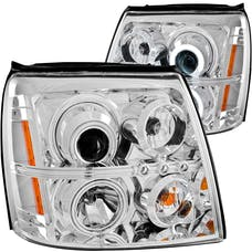 AnzoUSA 111176 Projector Headlights with Halo Chrome (SMD LED) (HID Compatible)