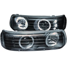 AnzoUSA 111189 Projector Headlights with Halo Black