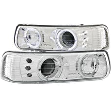 AnzoUSA 111190 Projector Headlights with Halo Chrome