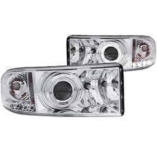 AnzoUSA 111195 Projector Headlights with Halo Chrome