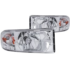 AnzoUSA 111206 Crystal Headlights Chrome with LED
