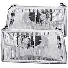 AnzoUSA 111247 Crystal Headlights Chrome
