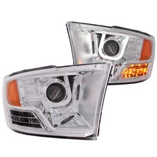 AnzoUSA 111269 Projector Headlights with U-Bar Chrome
