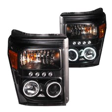AnzoUSA 111271 Projector Headlights with Halo Black (SMD LED)