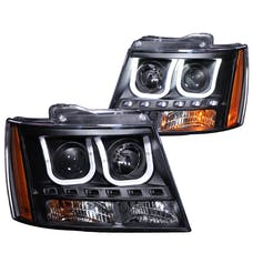AnzoUSA 111273 Projector Headlights with U-Bar Black