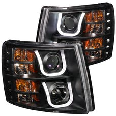 AnzoUSA 111281 Projector Headlights with U-Bar Black
