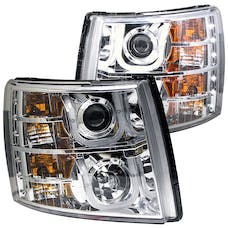 AnzoUSA 111282 Projector Headlights with U-Bar Chrome