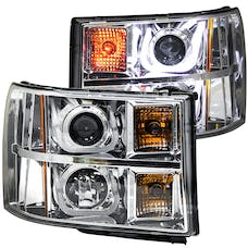 AnzoUSA 111283 Projector Headlights with U-Bar Chrome