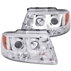 AnzoUSA 111287 Projector Headlights with U-Bar Chrome