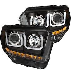 AnzoUSA 111318 Projector Headlights with U-Bar Black