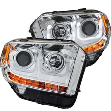 AnzoUSA 111327 Projector Headlights with U-Bar Chrome with DRL