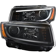 AnzoUSA 111329 Projector Headlights with Plank Style Design Black