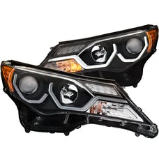 AnzoUSA 111332 Projector Headlights with Plank Style Design Black