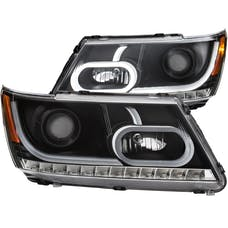 AnzoUSA 111334 Projector Headlights with Plank Style Design Black