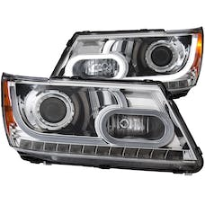 AnzoUSA 111335 Projector Headlights with Plank Style Design Chrome