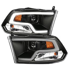 AnzoUSA 111404 Projector Headlights Plank Style Design Black with Halo