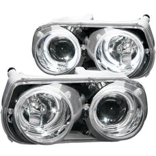 AnzoUSA 121004 Projector Headlights with Halo Chrome