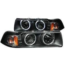 AnzoUSA 121011 Projector Headlights with Halo Black (SMD LED) G2