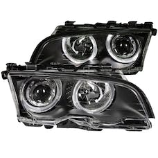 AnzoUSA 121015 Projector Headlights with Halo Black