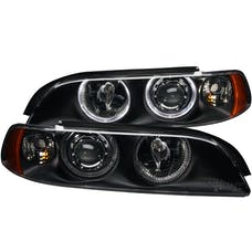 AnzoUSA 121017 Projector Headlights with Halo Black