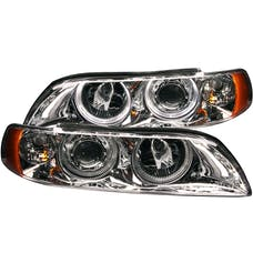 AnzoUSA 121018 Projector Headlights with Halo Chrome