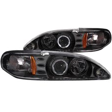 AnzoUSA 121038 Projector Headlights with Halo Black 1pc