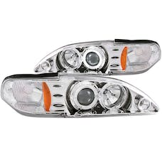 AnzoUSA 121039 Projector Headlights with Halo Chrome 1pc
