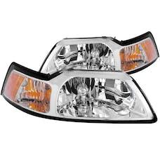 AnzoUSA 121041 Crystal Headlights Chrome