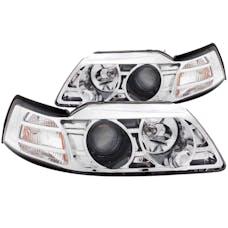 AnzoUSA 121043 Projector Headlights Chrome