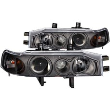 AnzoUSA 121048 Projector Headlights with Halo Black 1pc
