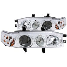 AnzoUSA 121049 Projector Headlights with Halo Chrome 1pc