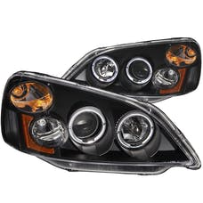 AnzoUSA 121055 Projector Headlights with Halo Black