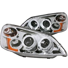 AnzoUSA 121056 Projector Headlights with Halo Chrome
