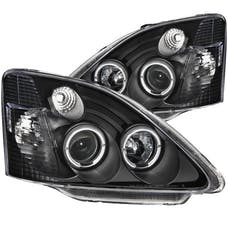 AnzoUSA 121057 Projector Headlights with Halo Black