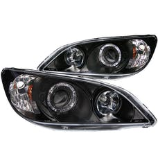 AnzoUSA 121059 Projector Headlights with Halo Black