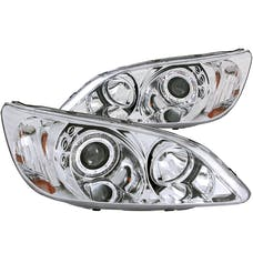 AnzoUSA 121060 Projector Headlights with Halo Chrome