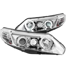AnzoUSA 121061 Projector Headlights with Halo Chrome (SMD LED)