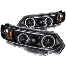 AnzoUSA 121062 Projector Headlights with Halo Black (SMD LED)