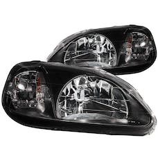 AnzoUSA 121070 Crystal Headlights Black
