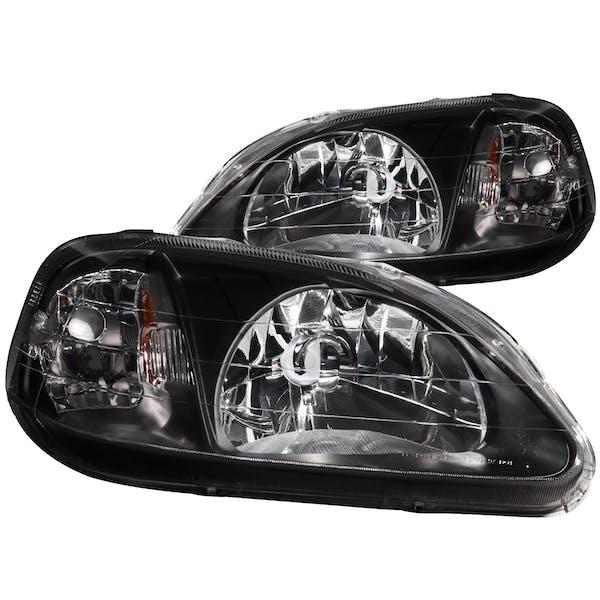 AnzoUSA 121070 Crystal Headlights Black
