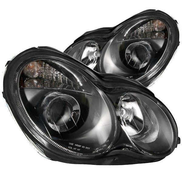 AnzoUSA 121079 Projector Headlights Black