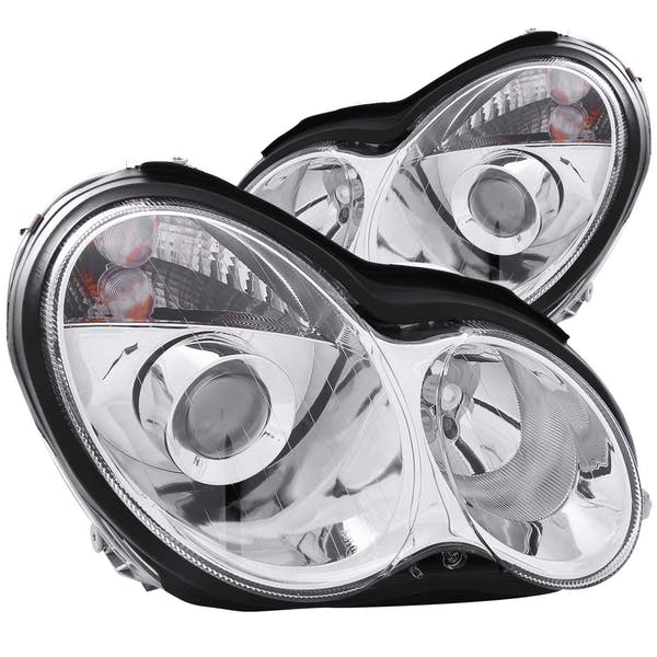 AnzoUSA 121080 Projector Headlights Chrome