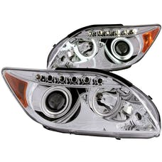 AnzoUSA 121120 Projector Headlights with Halo Chrome (SMD LED)