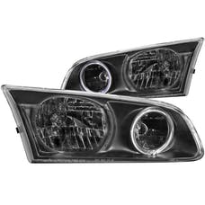 AnzoUSA 121123 Crystal Headlights with Halo Black
