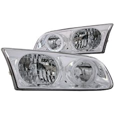 AnzoUSA 121124 Crystal Headlights with Halo Chrome