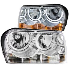 AnzoUSA 121137 Crystal Headlights with Halo Chrome (SMD LED)