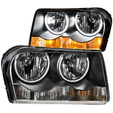 AnzoUSA 121138 Crystal Headlights with Halo Black (SMD LED)